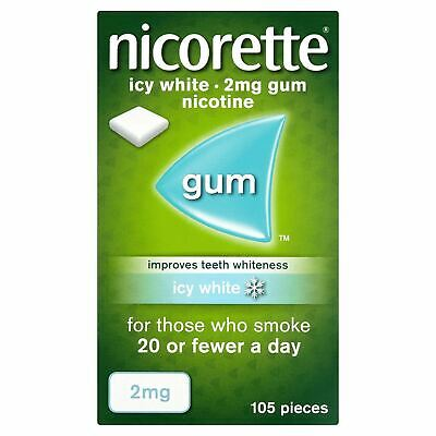 Nicorette Chewing Gum 2mg Icy White Flavour - 105 Pieces