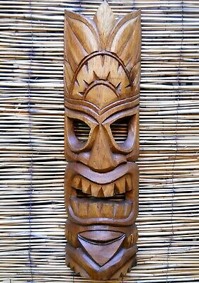Amazing Carving Wooden TIKI MASK 50 cm NEW DESIGN Wall Decoration Brown Colour
