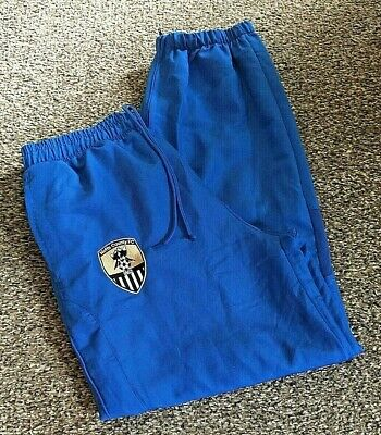 *** Notts County Tracksuit Bottoms - Blue - FILA - Size Adult Large ***