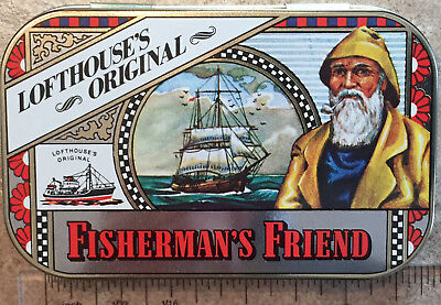 Vintage Collectable Fisherman's Friend Tin - never used, Souvenir Zinn