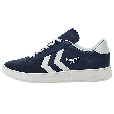 new arrival 9b5bb 9f216 HUMMEL SUPER TRIMM allround retro Sneaker Turnschuhe Sportschuh blau 201251  7666