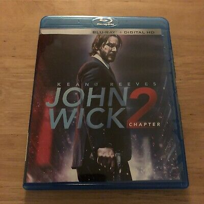 John Wick Chapter 2 2017 Keanu Reeves MINT Digital HD Code + Blu Ray Disc