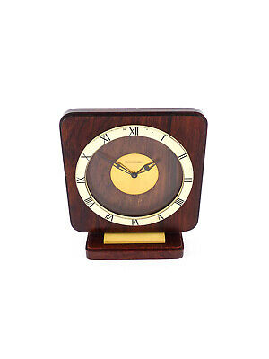 Rare table clock by Jaeger LeCoultre in wooden case, 60's