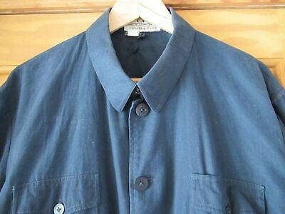 Chore Worker Jacket Coat Chinese Navy Blue Size L Vintage