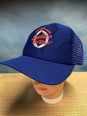 """Vintage Snap On New Era Monster Truck """"Leading The Way"""" Snapback Hat Blue Mesh"""