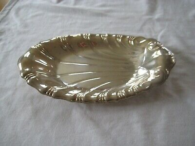 "1847 Rogers Bros Neptune Serving Tray Scalloped 9"" Oval IS Silver Plate"