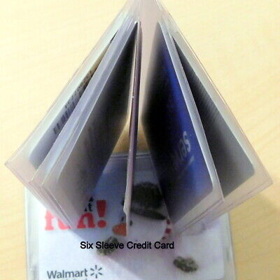 Holder for Credit Cards -  6 Seeves for Wallet or Purse