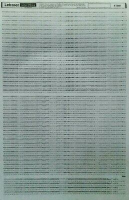 LETRASET Dry Transfer LETTERS/NUMBERS (Black) 2mm #S7500