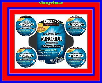 24 Months Kirkland Minoxidil 5% Mens Hair Loss Regrowth Treatment 4 Sealed Boxes