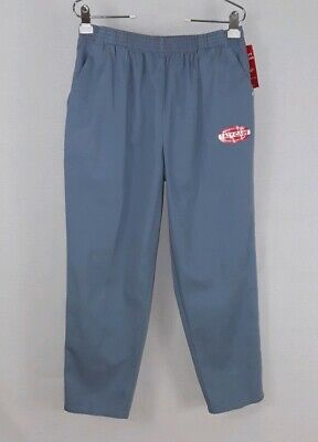 Chic petite size 16p light blue pull on 100% cotton pockets casual pants NWT