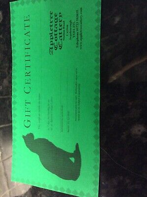 Gift Voucher For Cattery In Cayton Scarborough worth £42