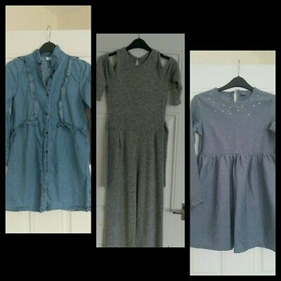 Girls outfits Next dresses  & River Island jumpsuit bundle 9-10 year