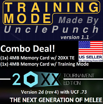 Memory Card Super Smash Bros Melee Training Packs Combo Deal 20XX + UnclePunch