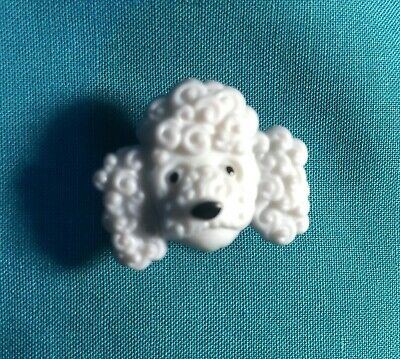 Cute POODLE Light Grey FACE DOG Pup Fluffy Puppy Animal Holey Clog Shoe Charms