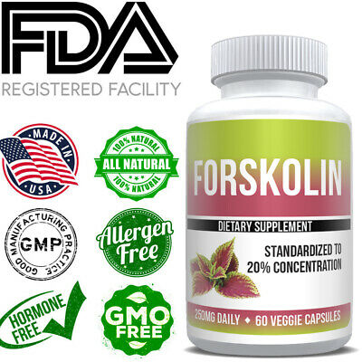 100% ULTRA PURE FORSKOLIN EXTRACT 250MG FAT BURN MAX WEIGHT LOSS Keto Diet