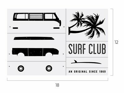 New Surf Club Chalk Couture Transfer...RETIRING