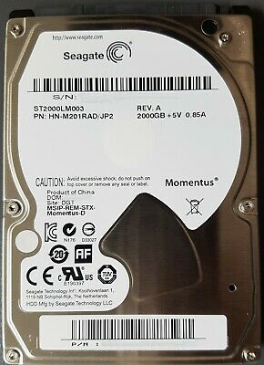 "Seagate 2 TB Internal 5400 RPM 2.5"" Hard Drive -ST2000LM003 #2"