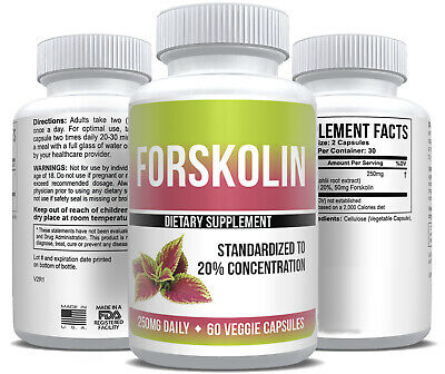 MAX FORSKOLIN FORSKOHLII 100% PURE EXTRACT 250mg WEIGHT LOSS FAT BURN DIET KETO