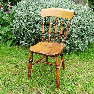 Victorian Elm Windsor Country Kitchen Dining Chair C19th