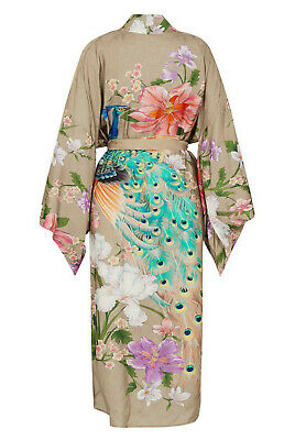 BNWT Spell & The Gypsy Collective Waterfall Kimono Robe In Taupe S/M - SOLD OUT!