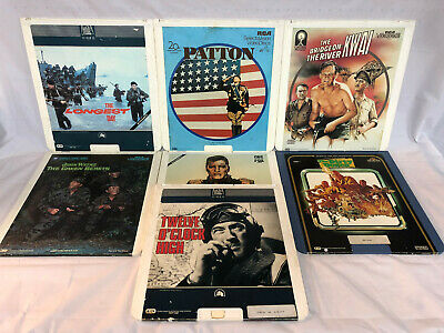 Ultimate WW2 Movie Collection Lot of CED Videodisc Longest Day John Wayne More