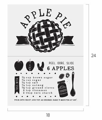 New Apple Pie Chalk Couture Transfer