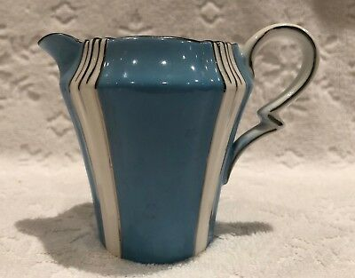 Vintage Royal Albert Crown China 1925-7; Art-Deco Jug-Style Cream; Blue+White