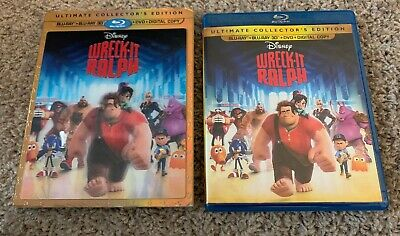 Wreck-It Ralph (3D, Blu-ray, DVD, 2013, 3-Disc Set - NO DIGITAL) EUC