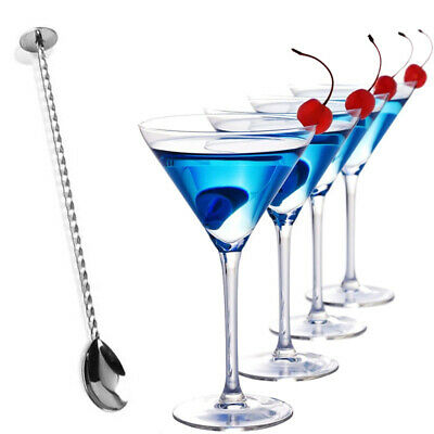 Drink Mixer Martini Stainless Steel Coffee Spoon Stirring Cocktail Stirrer