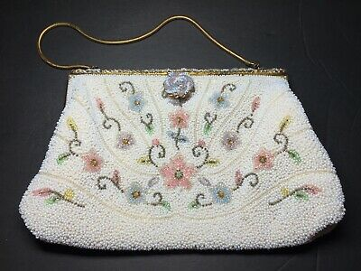 621ff28d9 Vintage Beaded Purse, French Beaded Bag, Handmade Purse, Cocktail Purse