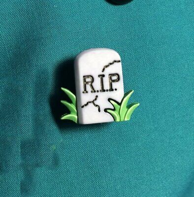 Cute RIP Tombstone Cemetery Headstone Creepy Halloween Clog Plug Pin Shoe Charm