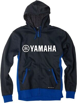 Factory Effex Yamaha Zip Up Hoodie Black/Blue All Sizes