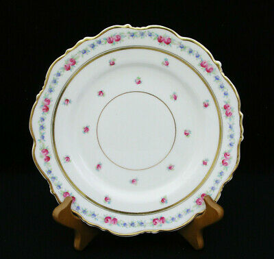 """(1) Cauldon England - 8 7/8"""" Luncheon Plate - K3616 Pink Roses - Very Nice Cond"""