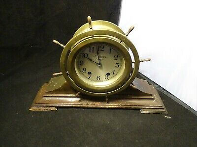 Antique Seth Thomas  7 Jeweled  8 Day Ships Bell Clock