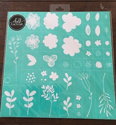 *NEW* SPRING FLOWERS Size D Chalk Couture Transfer *RETIRED