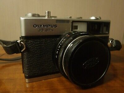 Silver Olympus 35 SPn 35mm Rangefinder Film Camera