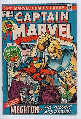 Captain Marvel 22 VG+ 4.5 Bronze Age