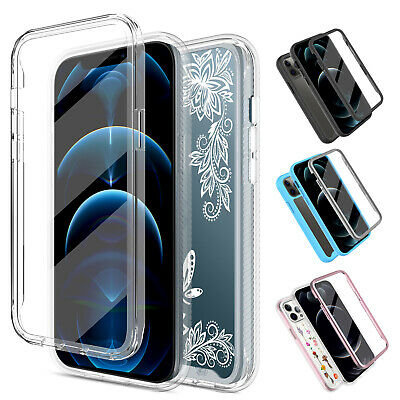 For iPhone 11 Pro Max XR X XS Max Full Case Cover With Built-in Screen Protector