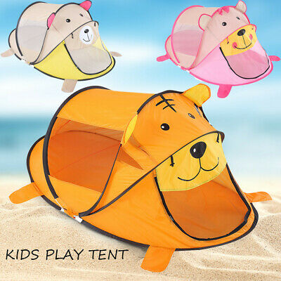 Funny Tiger Indoor Play Tent For Kids Outdoor Up Foldable Playhouse For Baby