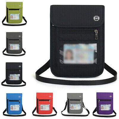 1 X Travel Wallet Passport Holder Credit Card Case Document Ticket Organizer Bag