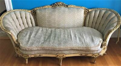 OMG!! 1900's  Antique FRENCH CARVED Couch, Settee~TUFTED~LOUIS XV~ORNATE sHABBY