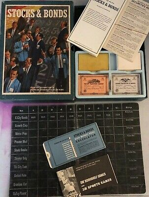 Vintage 1964 3M Company Stocks and Bonds Bookshelf Board Game (MG) Complete