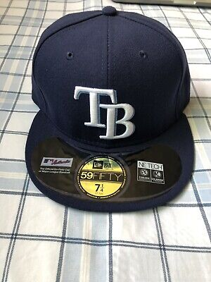 detailing 99703 f60dc 7 1 4 Tampa Bay Rays Cap Hat New Era 59Fifty Fitted On Field No