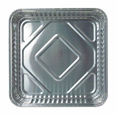 """Durable Packaging Disposable Aluminum Square Cake Pan, 8"""" x 8"""" x 1-5/16"""" (Pack o"""