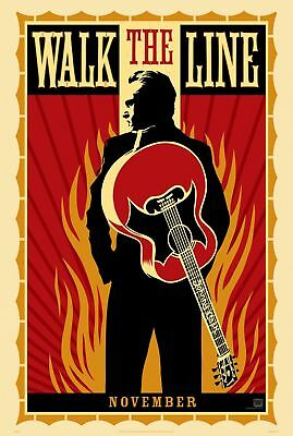 Walk The Line Joaquin Phoenix Reese Witherspoon Double Sided 27x40 Movie Poster