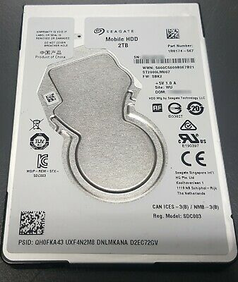 "Seagate 2 TB Internal 5400 RPM 2.5"" Hard Drive -ST2000LM007"