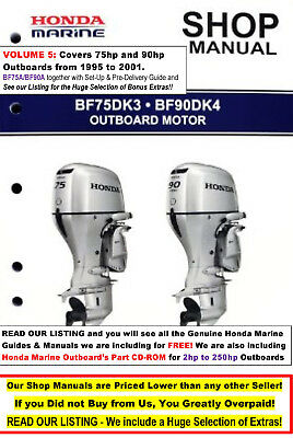 HONDA OUTBOARD SERVICE Manual Collection 2 - 225 HP ( BF40A BF75A