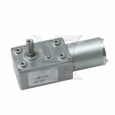 DC12V 25PM Worm Gear Motor Gearbox 6mm Dual Shaft High Torque Turbine Reducer