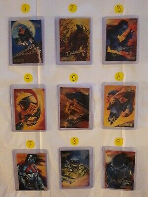 Fleer Ultra Spider-Man- Gold Foil Signature Series Card Lot- Individual Cards