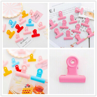 Candy Colour Plastic Metal Paper Bulldog Clip Binder Snack Tidy paper File Clamp